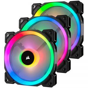 Corsair LL120 RGB 3 Fan Pack with Lighting Node PRO 120mm