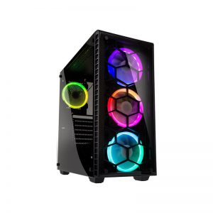 Kolink Observatory RGB Tempered Glass Black