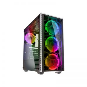 Kolink Observatory RGB Tempered Glass White
