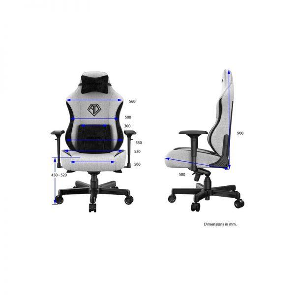 Anda Seat Chair Ad18 T Pro Grey/Black
